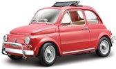 Modelauto Fiat 500 L 1968 rood 1:24