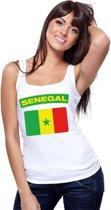 Singlet shirt/ tanktop Senegalese vlag wit dames L