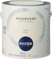 Histor Perfect Finish Muurverf Mat - 2,5 Liter - Katoen (Ral 9001)