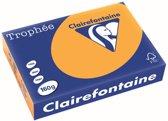 Clairefontaine Trophée Pastel A4 oranje 160 g 250 vel