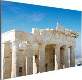 Akropolis Athene Aluminium 120x80 cm - Foto print op Aluminium (metaal wanddecoratie)