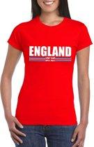 Rood Engeland supporter t-shirt voor dames XS
