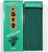 Nippon Kodo Morning Star - Cedarwood - Cederhout - Japanse wierook - XL-pack - Cedar - Gratis Verzending!!!