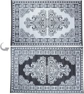 Tuintapijt Perzisch zwart/wit 180x120cm