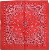 Alternatieve retro paisley bandana rood - Zac's Alter Ego