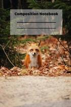 Composition Notebook: Cute Baby Fox Red Foxes Lover Forest Themed Notebook or Journal
