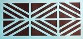 Verfsjabloon Geometrisch Border. Sjabloon 17 x 40 cm