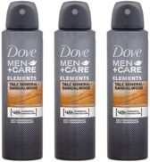 3x150ml Dove Deospray Men – Care Talc Mineral & Sandalwood