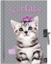 Studio Pets Sweet Kitten - Dagboek - 15 x 20 cm - Inclusief slotje