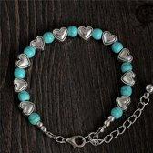 Armband hart - turquoise