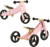 bol com loopfiets kopen? alle loopfietsen onlineloopfiets driewieler hout 2 in 1 roze (1331)