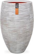 Vaas elegant deluxe rib NL 56x84 ivoor