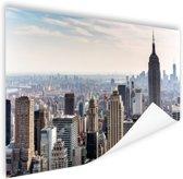 New York City Skyline Poster 180x120 cm - Foto print op Poster (wanddecoratie woonkamer / slaapkamer) / Steden Poster XXL / Groot formaat!