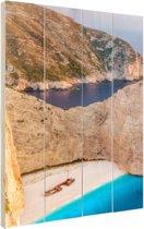 Een eiland met helder water Hout 40x60 cm - Foto print op Hout (Wanddecoratie) / Zee en Strand