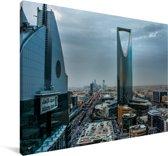 Donkere wolken boven de stad Riyad Canvas 180x120 cm - Foto print op Canvas schilderij (Wanddecoratie woonkamer / slaapkamer) XXL / Groot formaat!