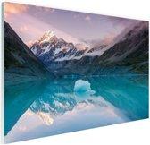 De Mount Cook van Nieuw Zeeland Glas 30x20 cm - Foto print op Glas (Plexiglas wanddecoratie)
