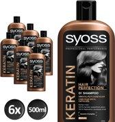 SYOSS Keratine Shampoo 500 ml - 6 stuks - Voordeelverpakking