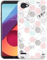LG Q6 Hoesje Marmer Honeycomb
