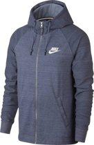 Nike AV15 Hoodie Full Zip Knit Sportvest Heren - Ashen Slate/Htr/(White)