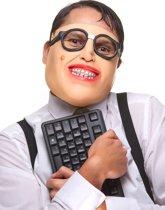 Latex nerd masker voor volwassenen - Verkleedmasker