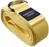 Trendy Sport Yoga riem - Yogariem - Yoga belt - 190 cm lang - 4 cm breed - 2 mm dik - Geel