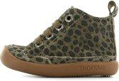 Shoesme Baby-Flex  Leren loop schoen - Bruin leopard - Maat 21