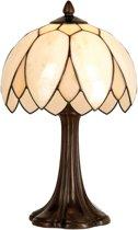 Tiffany Tafellampje met gebogen kap 41 x 26 cm