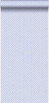 behang ruiten blauw - 115714 van ESTAhome.nl