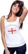 Witte dames tanktop Engeland M