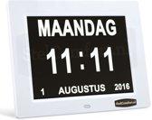Digitale Kalenderklok met datum, dag en tijd   zonder dagdeel   Dayclox