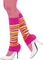Neon gekleurde beenwarmers voor dames