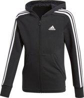 adidas - YG 3S Full Zip Hoodie - Kinderen - maat 140