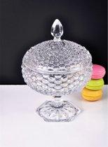 Sener paci - Bowl glazen bonbonniere op voet 16 x 23.5 cm