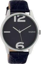 OOZOO Timepieces Blauw horloge  (40 mm) - Roze