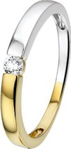 The Jewelry Collection Ring Diamant 0.09 Ct. - Bicolor Goud (14 Krt.)