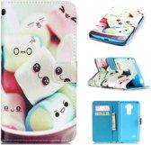 iCarer Candy print wallet case hoesje LG G4S