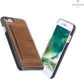 Pierre Cardin lederen back cover iPhone 7 - Bruin