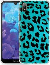 Huawei y5 2019 Hoesje Luipaard Groen Zwart