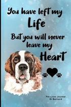 Pet Loss Journal St Bernard: Guided Prompt Keepsake Workbook