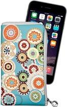 Spring Design Wit Soft Case Etui Tasje Apple iPhone 6