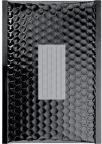 100 x Zwart metallic luchtkussen enveloppen B/00 - 210x120mm - zelfklevende strip - Office Depot / Viking
