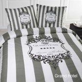 Papillon Grand hotel - dekbedovertrek - eenpersoons - 140 x 200/220 - Grijs