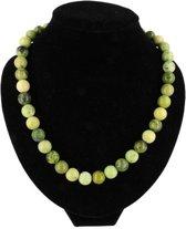 Ketting Jade Birma - 43 cm - groen - 43 cm