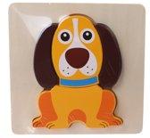 Johntoy Houten Vormenpuzzel Hond 5-delig