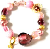 Jewellicious Designs Pink & Gold Sweetheart geluksarmband voor Pink Ribbon