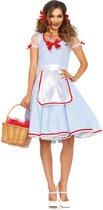 Kansas Sweetie Of Oz kostuum - M - Blauw, Wit - Leg Avenue