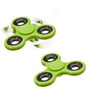 relaxdays 2 x Fidget Spinner - tri-spinner 58g hand spinner - anti-stress speelgoed groen