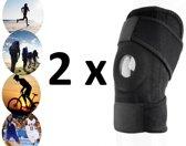 2 stuks - i12Cover Knie Brace Met Patella Braces - Kniebrace / Kniebandages / Kniebanden Patella Band - Premium Kniestrap sport, elastisch