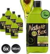 Nature Box Avocado Douchegel Vegan 385ml - 6 stuks - Voordeelverpakking