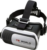 VR WORLD nieuwste VR BOX Virtual Reality 3D Bril o.a. te gebruiken met Apple iPhone 5 / 5S / 6 / 6 plus, Samsung Galaxy S5 / S6 / S6 edge / Note 4, Sony Xperia, Huawei, LG Nexus etc.